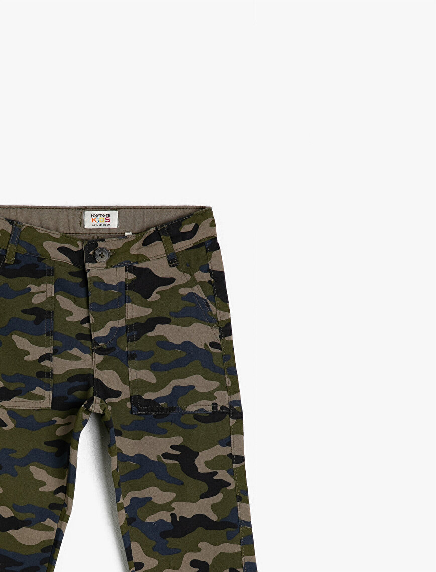 100% Cotton Camouflage Printed Trousers