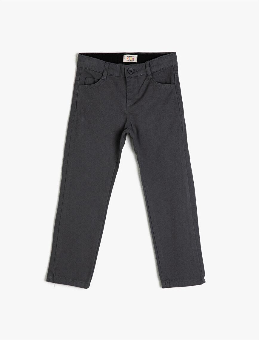 Pamuklu Cepli Pantolon