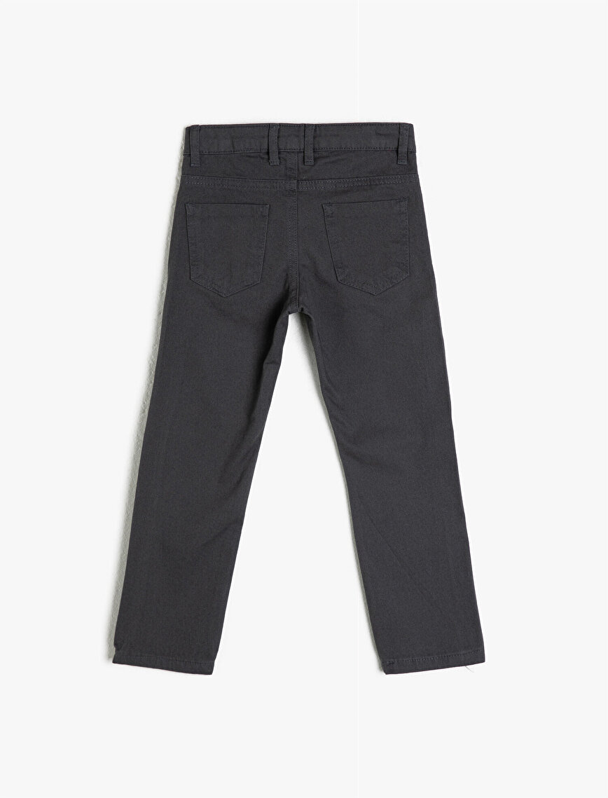 100% Cotton Pocket Trousers