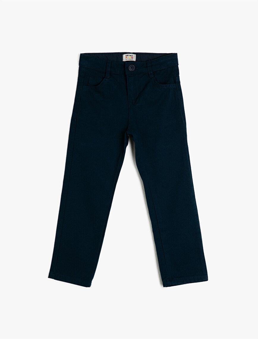 Cotton Pocket Trousers