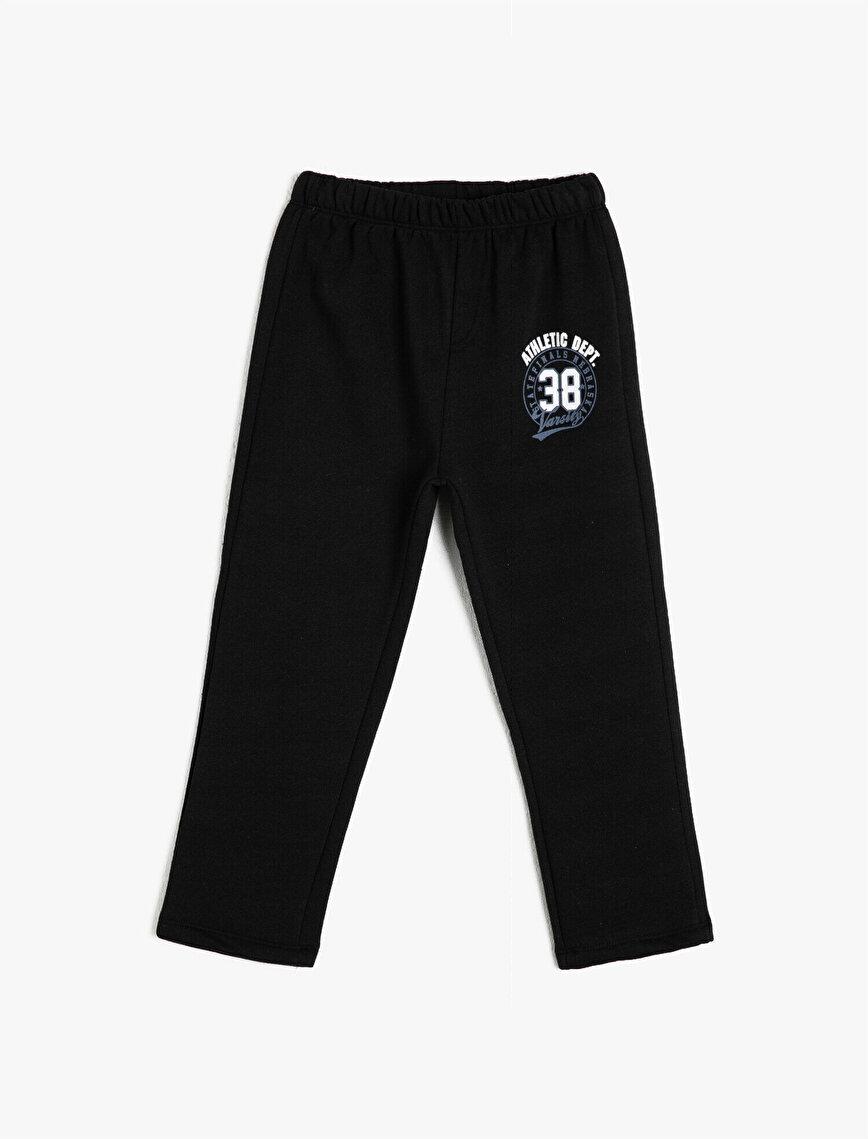 Medium Rise Printed Jogging Pants