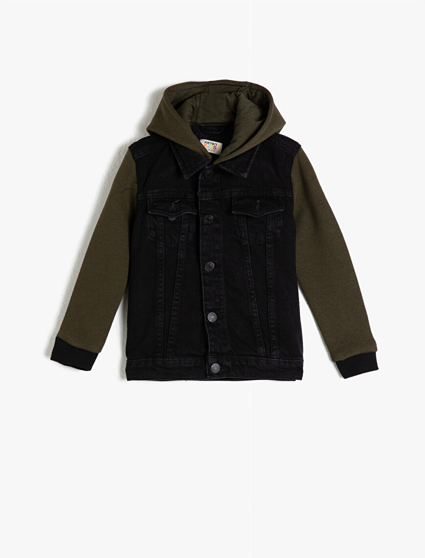 Cotton Hooded Jean Jacket