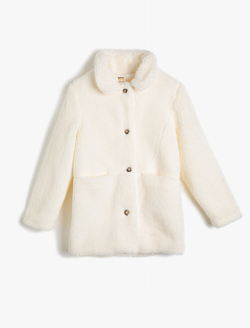 Shirt Neck Sherpa Coat