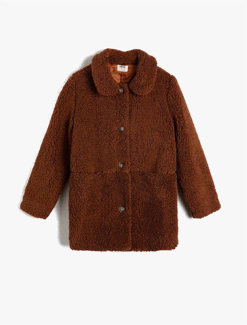 Shirt Neck Sherpa Coat