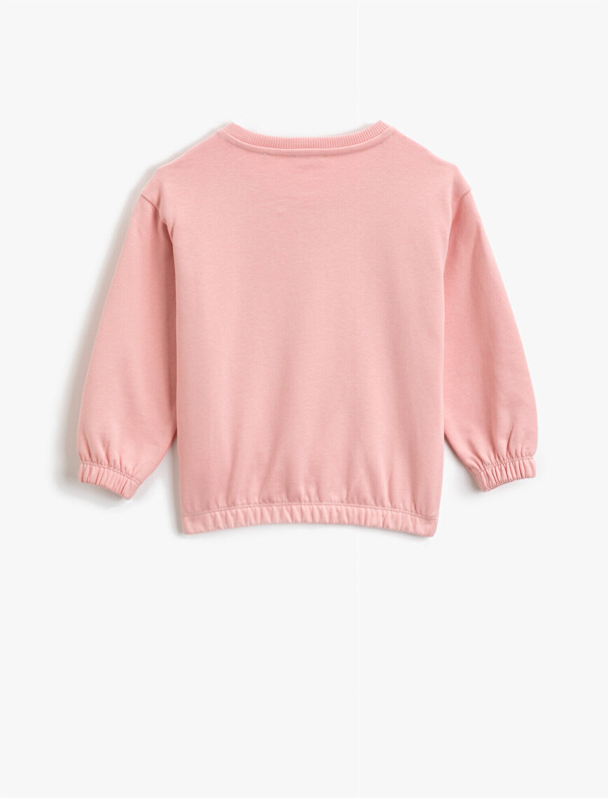 Respect Life | Yaşama Saygı - Organic Cotton Printed Sequinned Frilled Sweatshirt