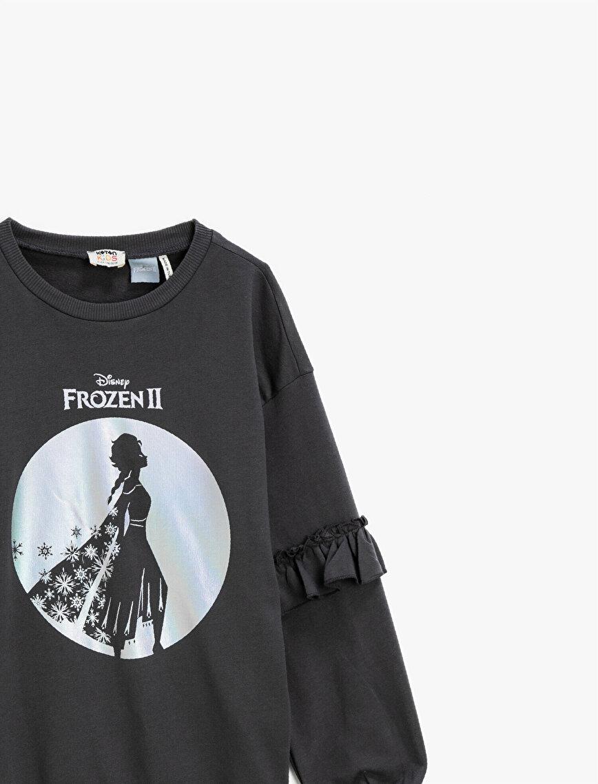 Frozen Licensed Sequinned Crew Neck Cotton Sweatshirt