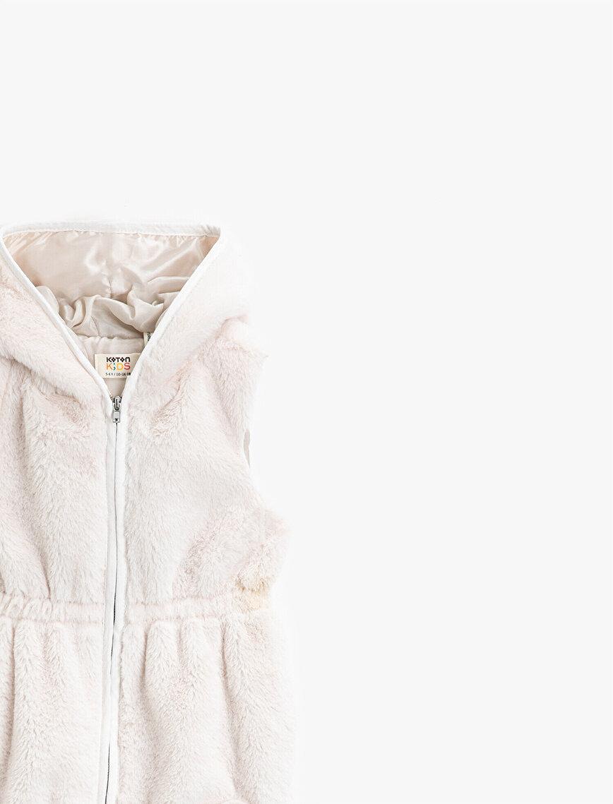 Plush Hooded Vest