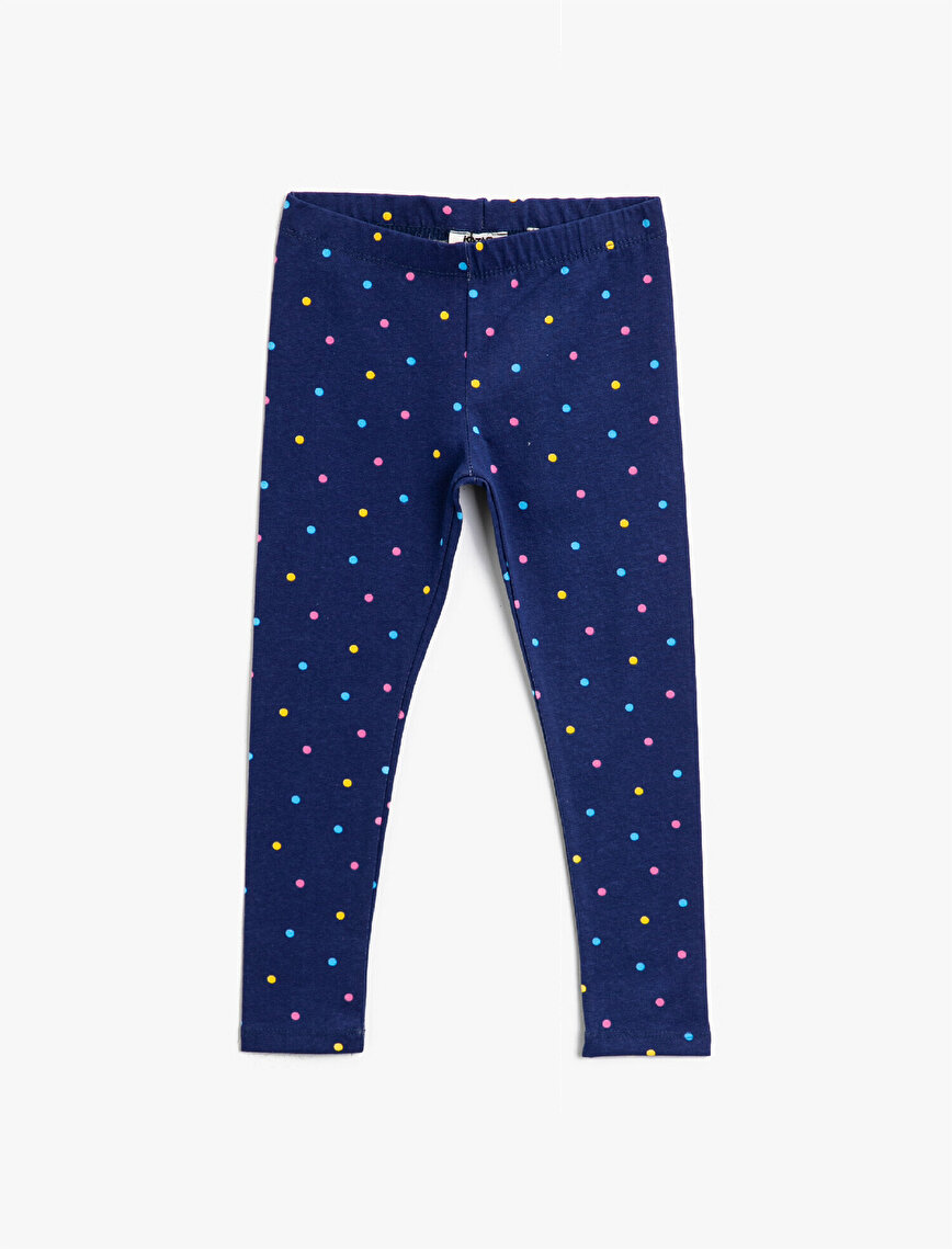 Cotton Dotted Leggings