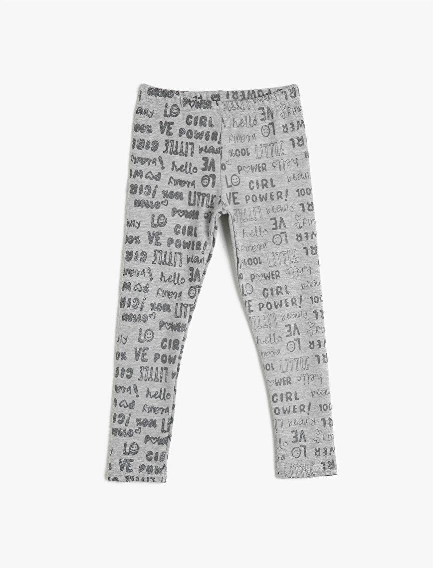 Letter Printed Leggings