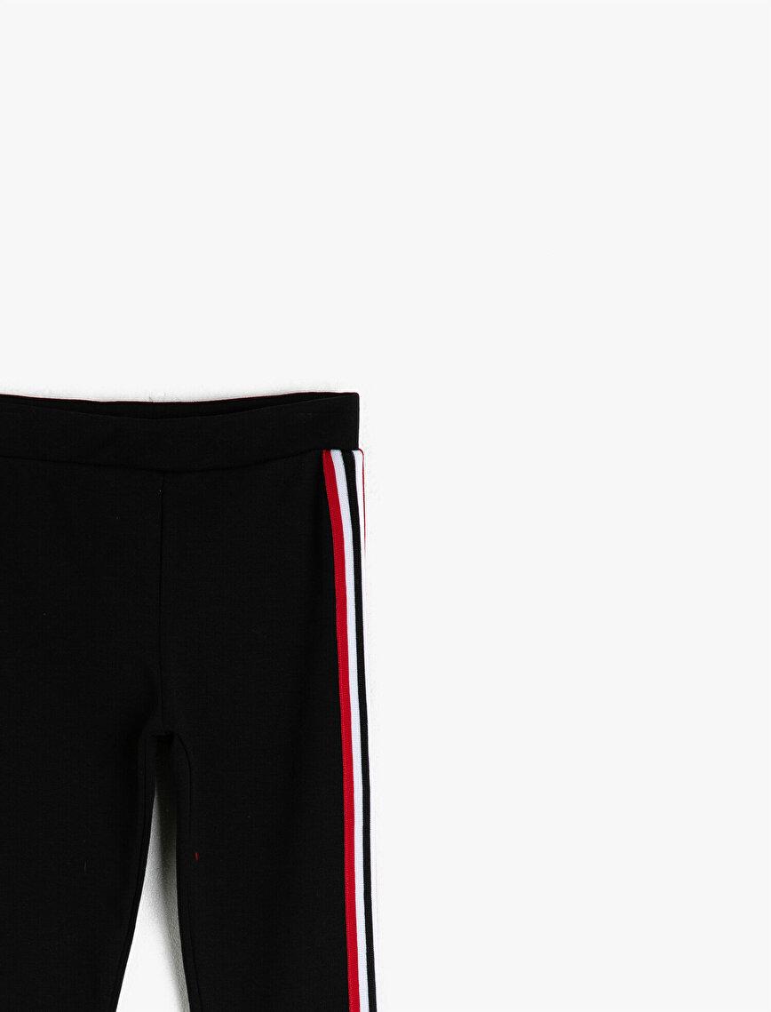 Stripe Detailed Leggings