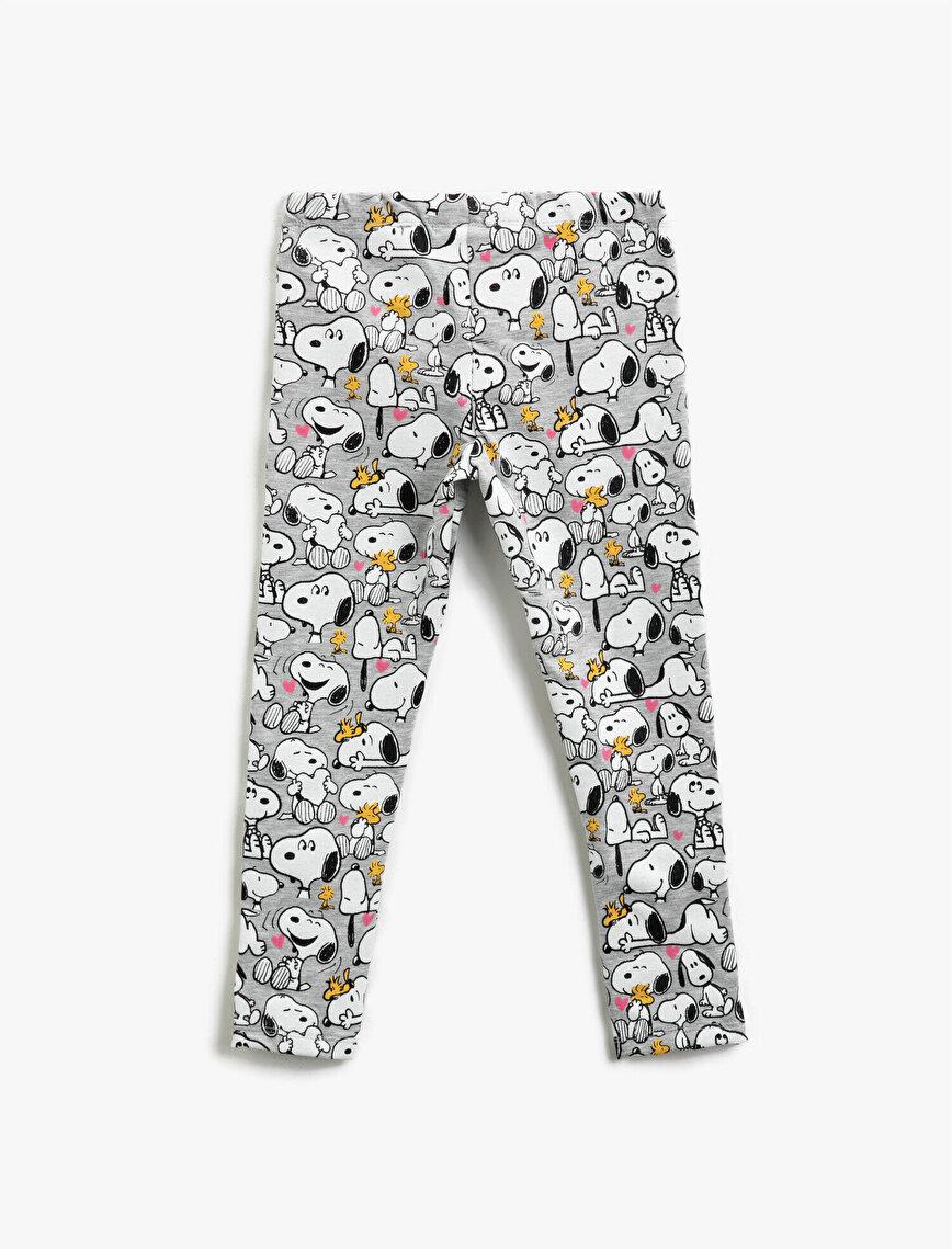 Cotton Snoopy Licensed Printed Medium Rise Leggings