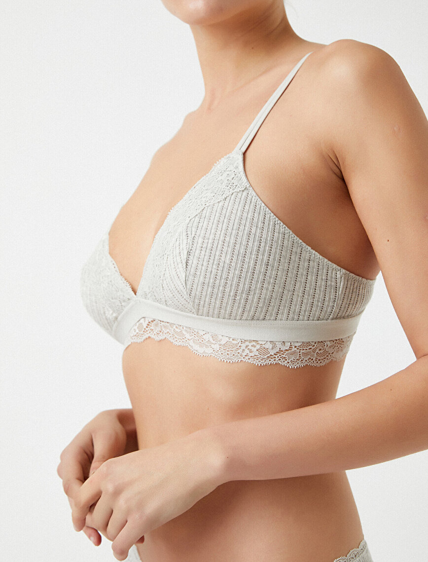 Respect Life | Yaşama Saygı - Organic Cotton Lace Detailed Soft Bra