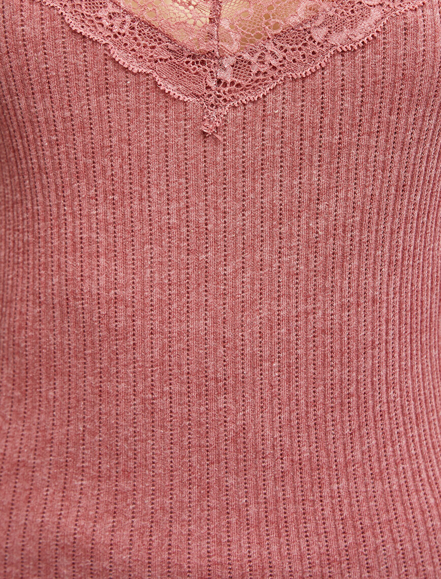 Respect Life | Yaşama Saygı -  Organic Cotton Lace Detailed Tanktop