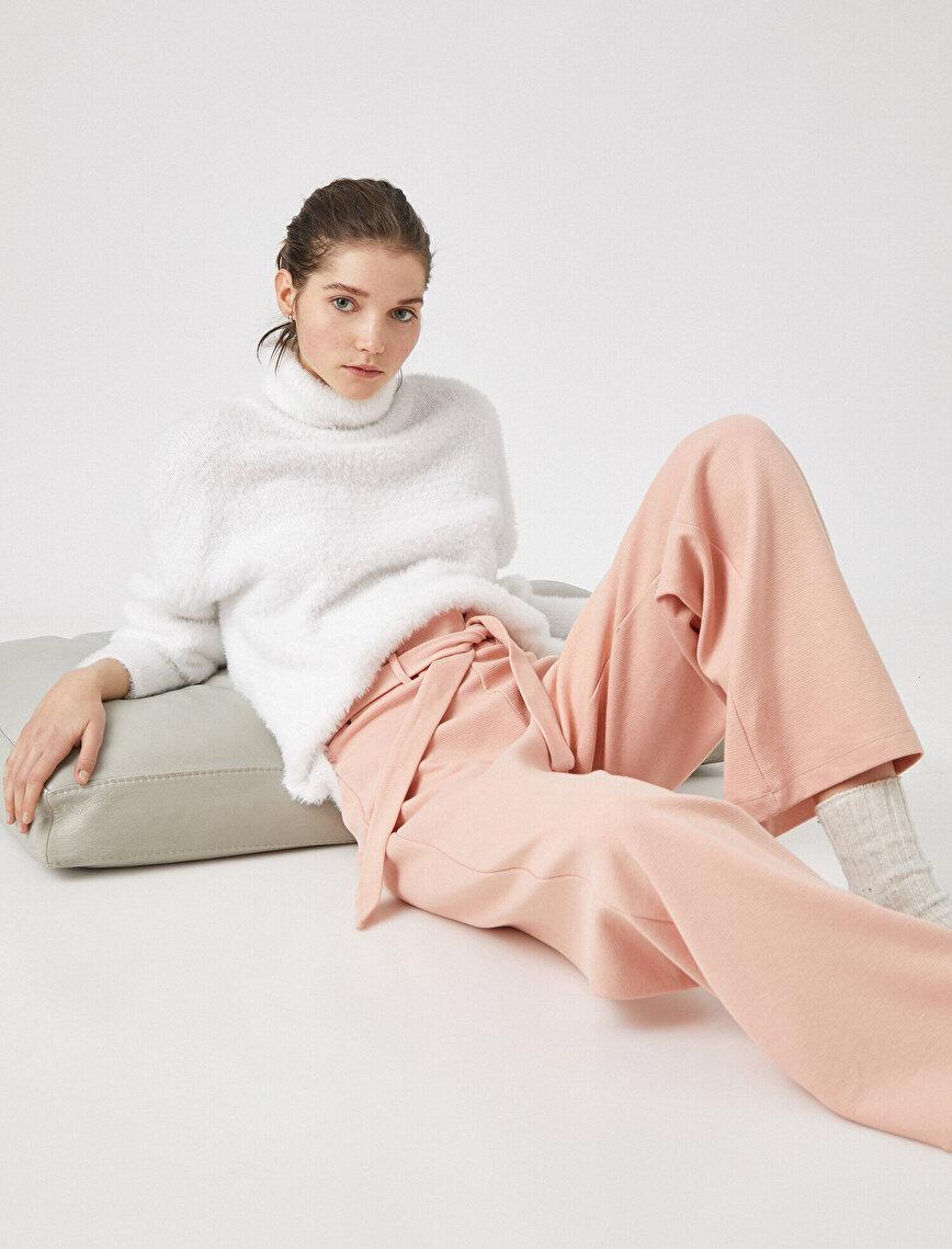%100 Pamuk Bağcıklı Pijama Altı
