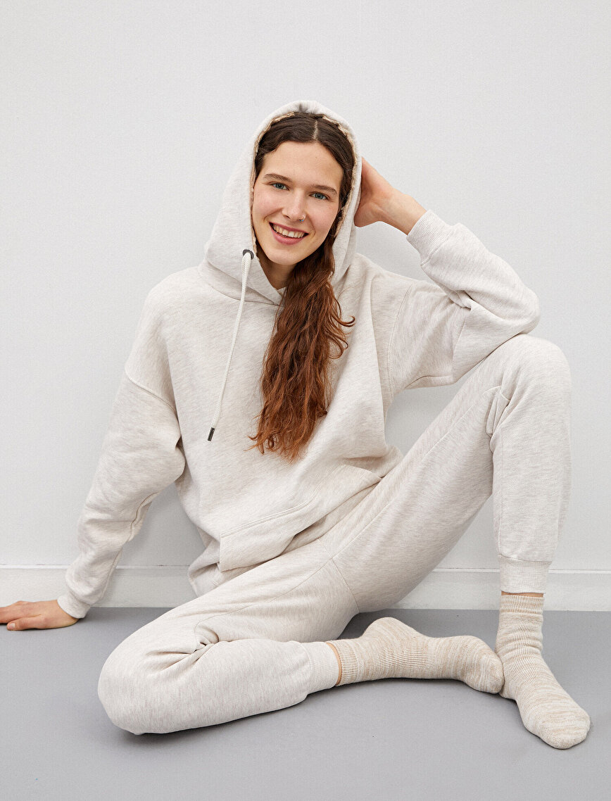 Kapüşonlu Cepli Pijama Üstü