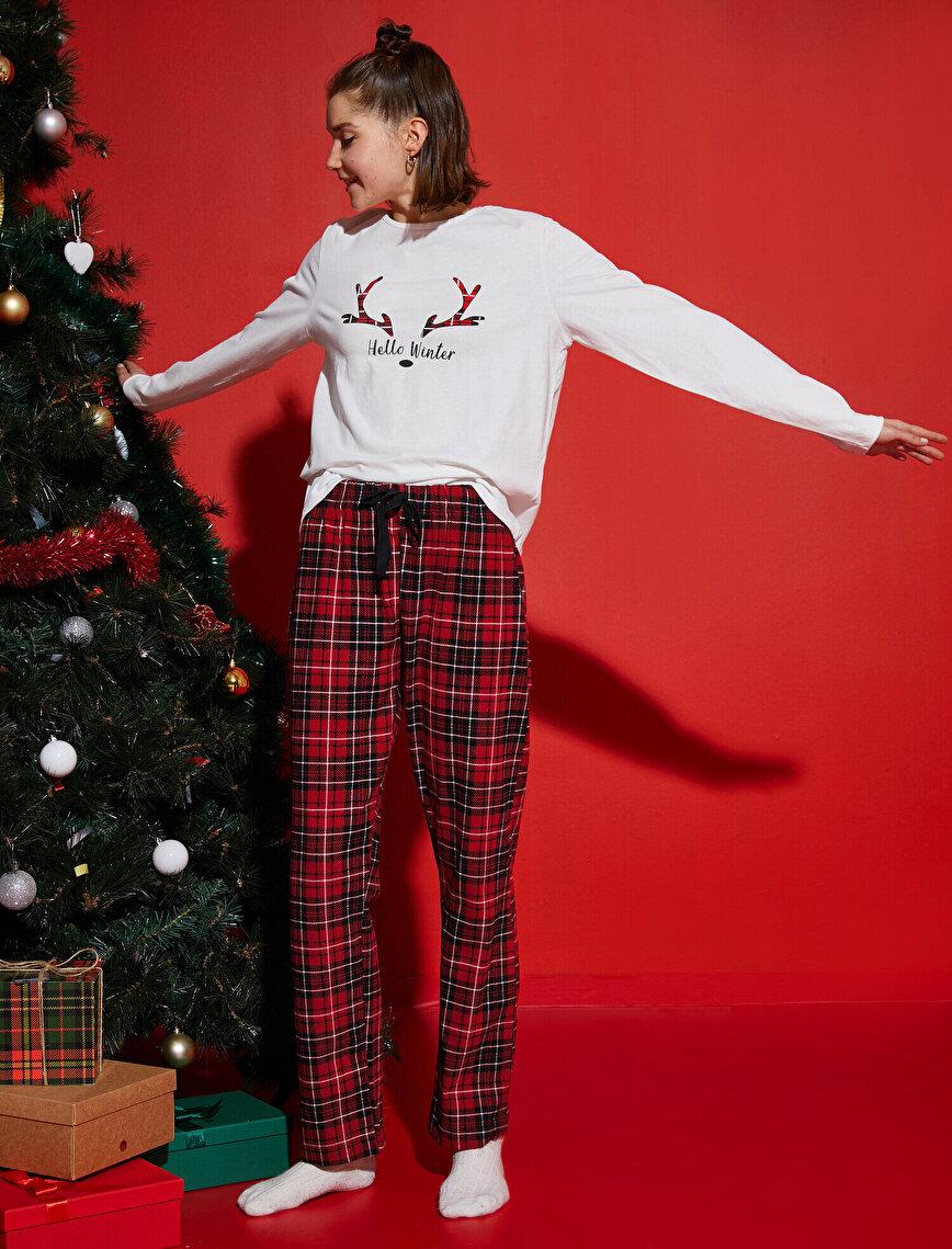 Pijama Takımı - Aile Pijaması | Kadın %100 Pamuk
