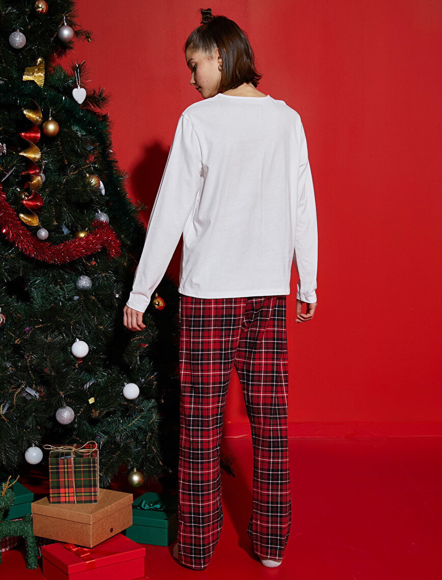 Pijama Takımı - Aile Pijaması   Kadın %100 Pamuk