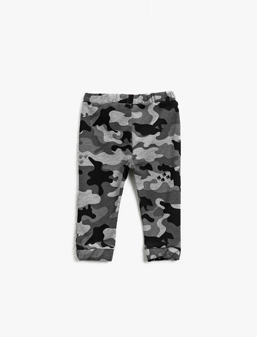Drawstring Camouflage Patterned Jogging Pants