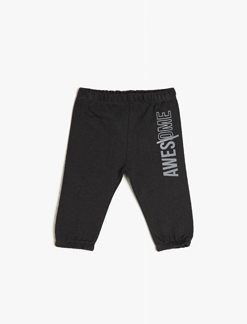 100% Cotton Letter Printed Sweatpants