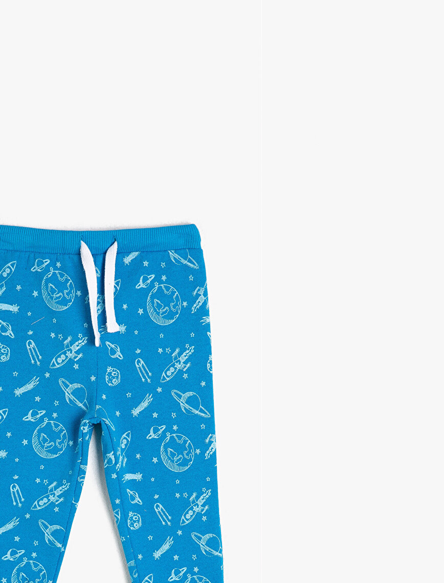 Strap On Printed Medium Rise Jogging Pants