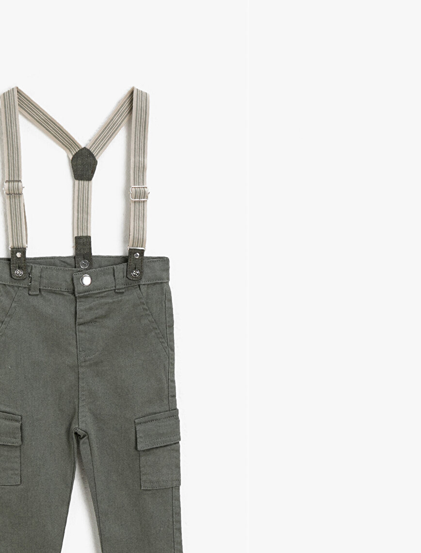 Cotton Pocket Detailed Jogger Trousers