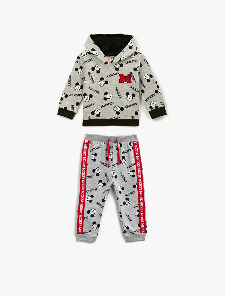 Mickey Mouse Licensed Printed Drawstring Cotton Jogging Pants