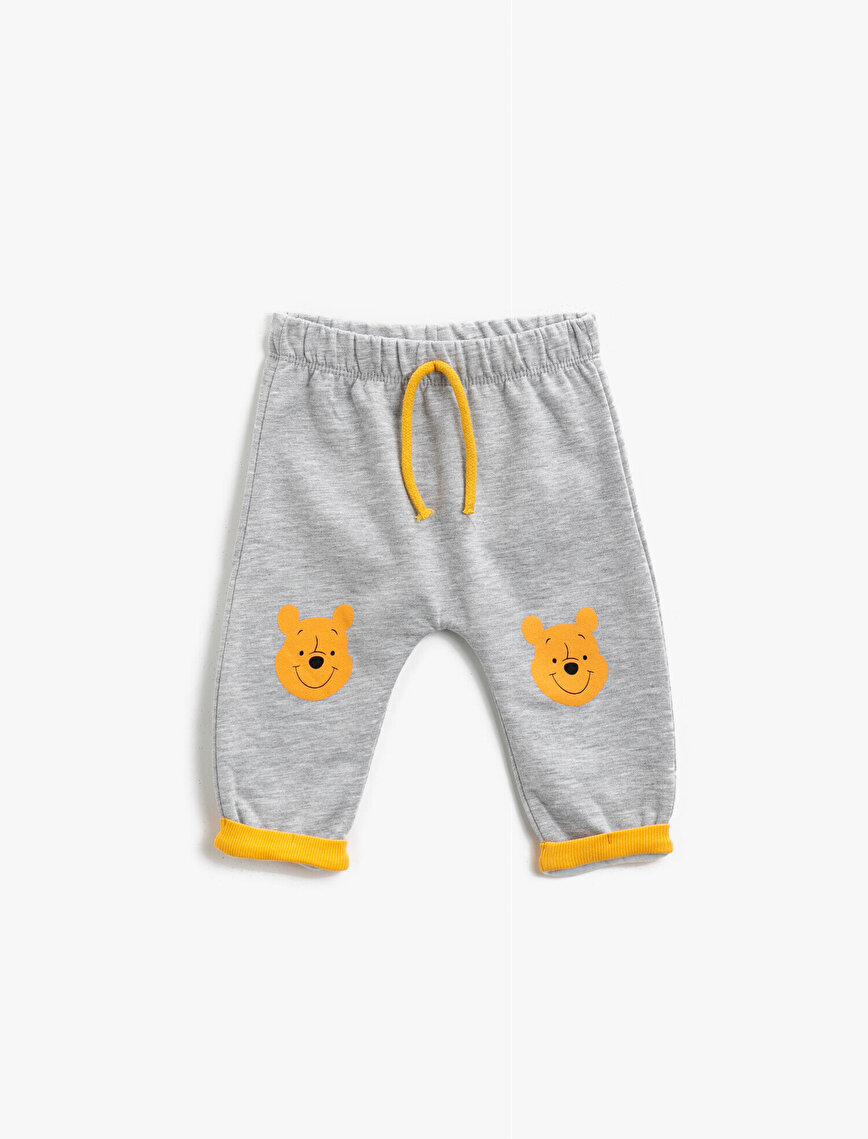 Cotton Winnie The Pooh Licensed Printed Drawstring Jogging Pants