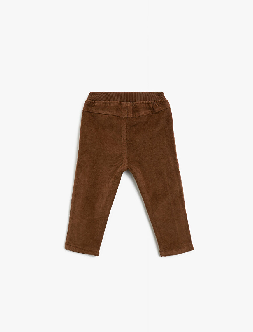 Cotton Drawstring Regular Fit Trousers