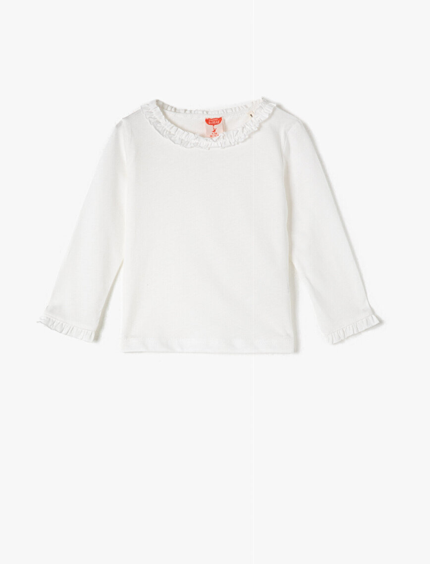 Round Neck Long Sleeve Basic T-Shirt