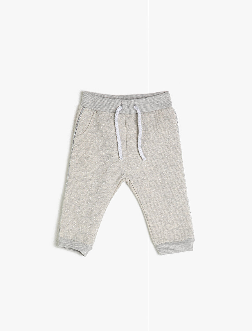 Glitter Striped Sweatpants