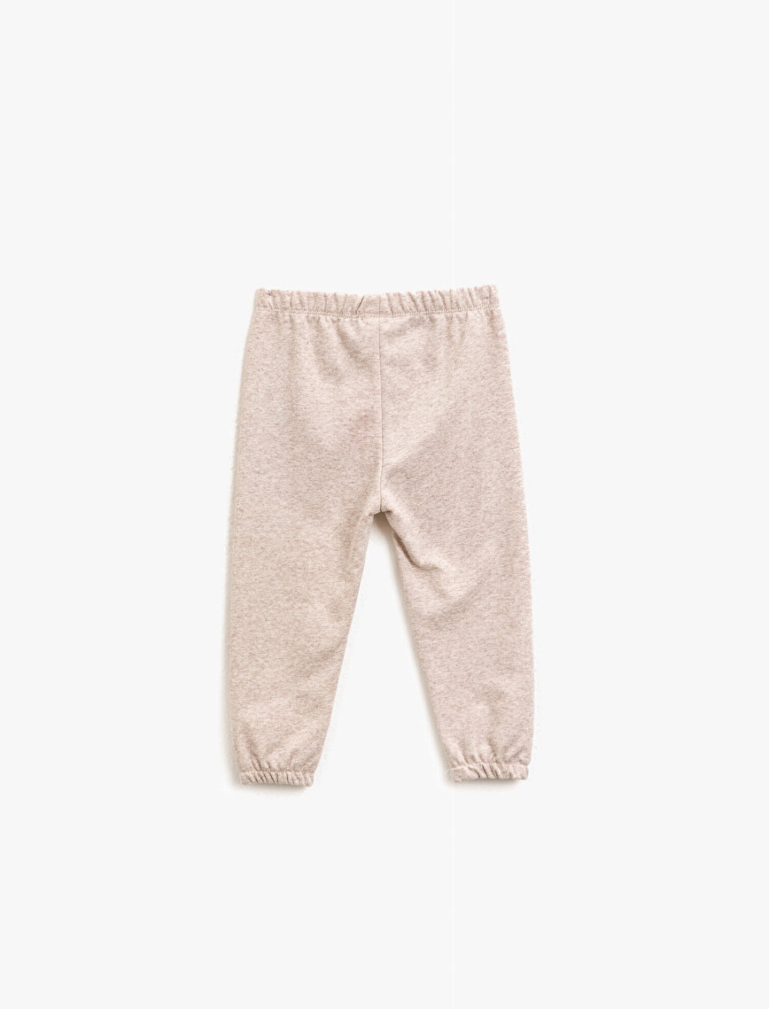 Medium Rise Letter Printed Jogging Pants