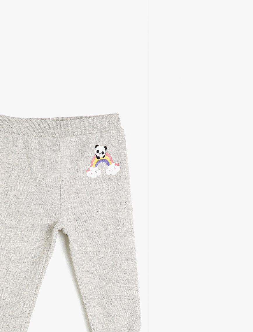Printed Medium Rise Sweat Bottoms