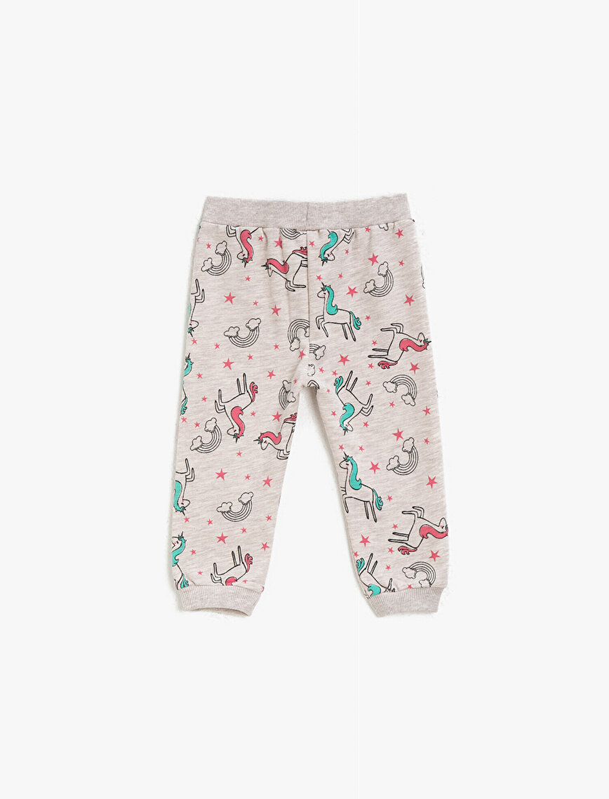 Unicorn Printed Medium Rise Jogging Pants