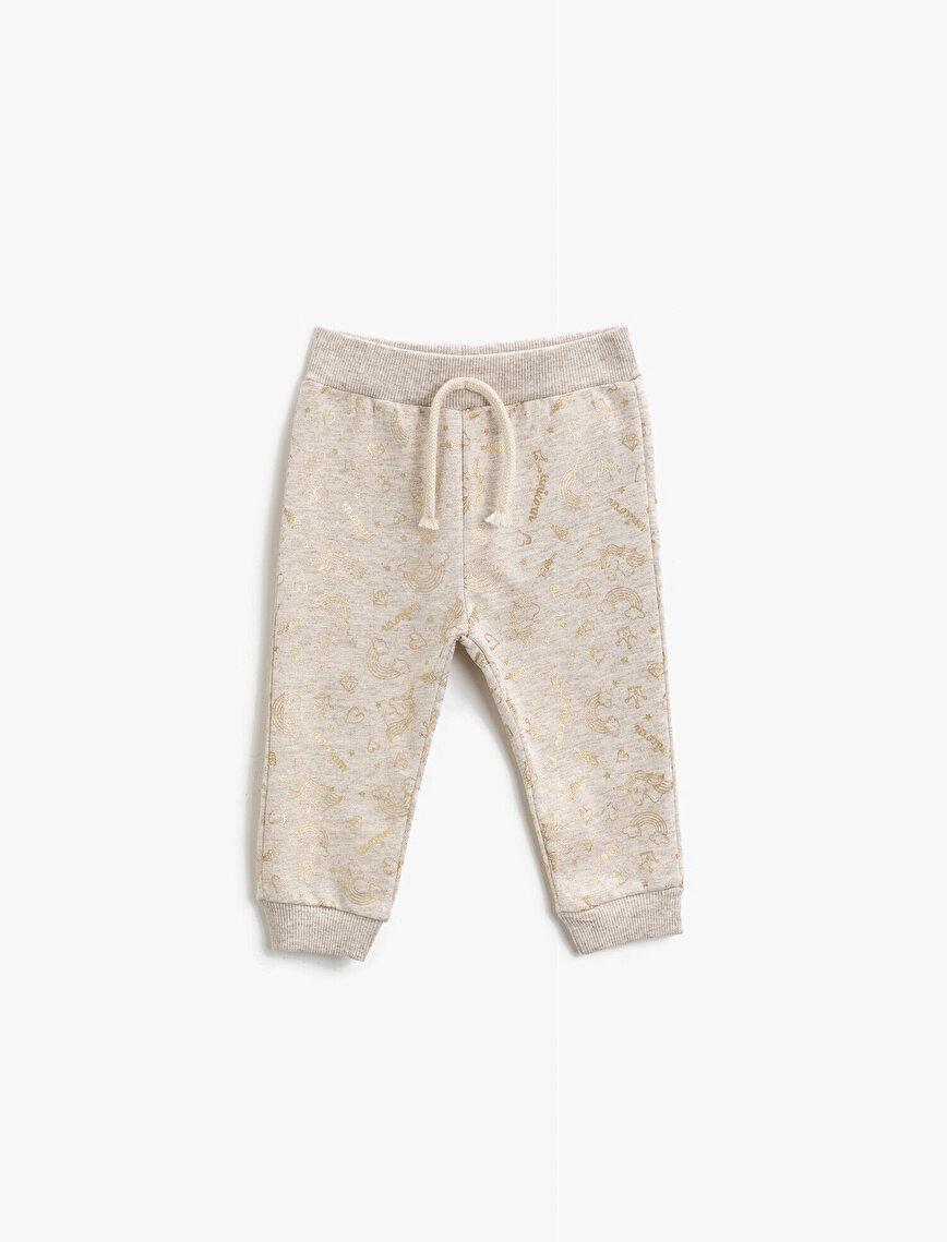Drawstring Printed Jogging Pants