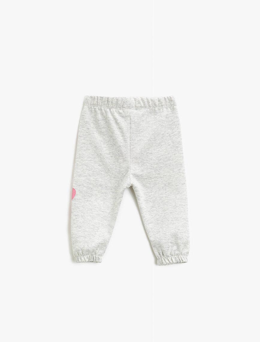 Medium Rise Letter Printed Jogging Pants