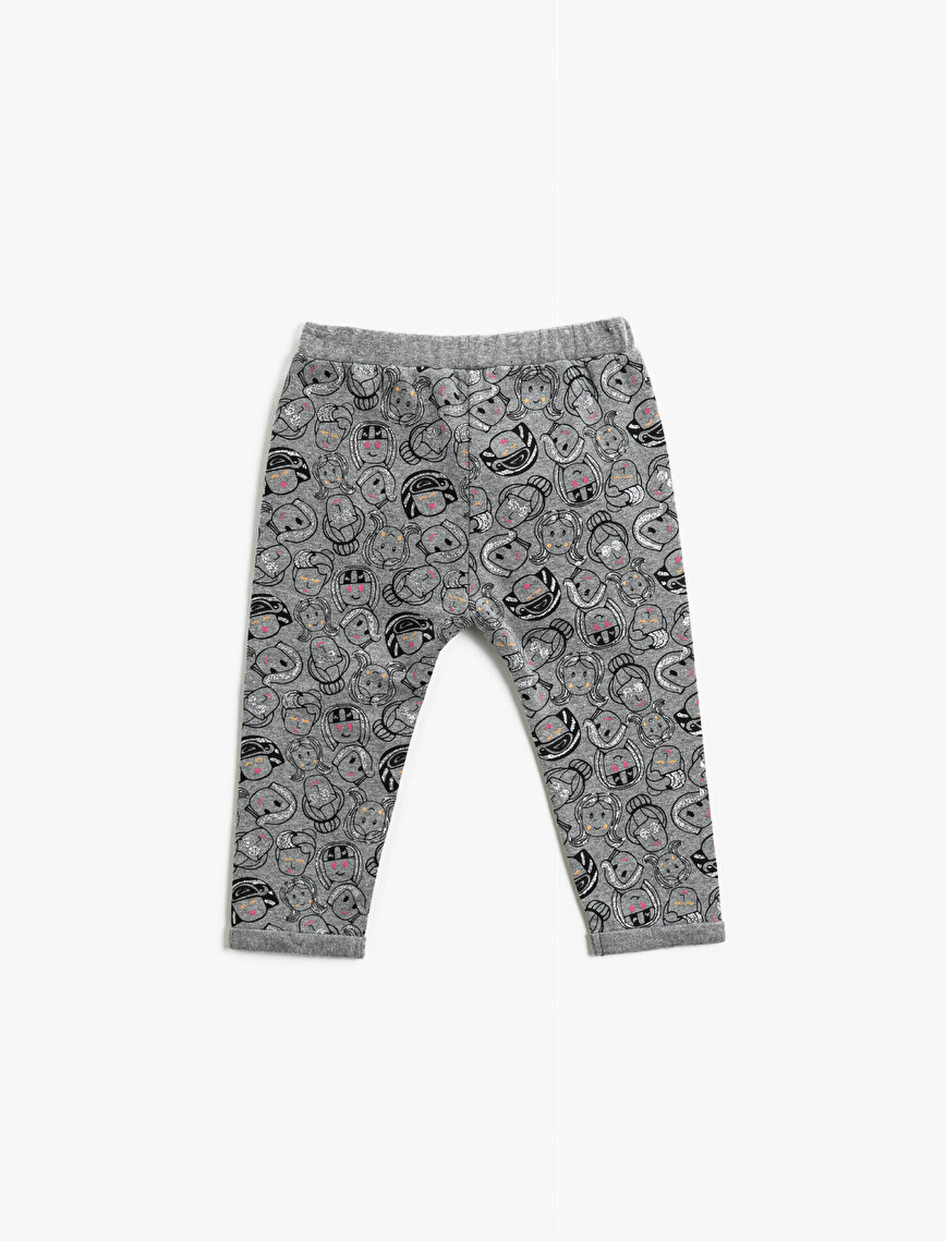Printed Medium Rise Jogging Pants