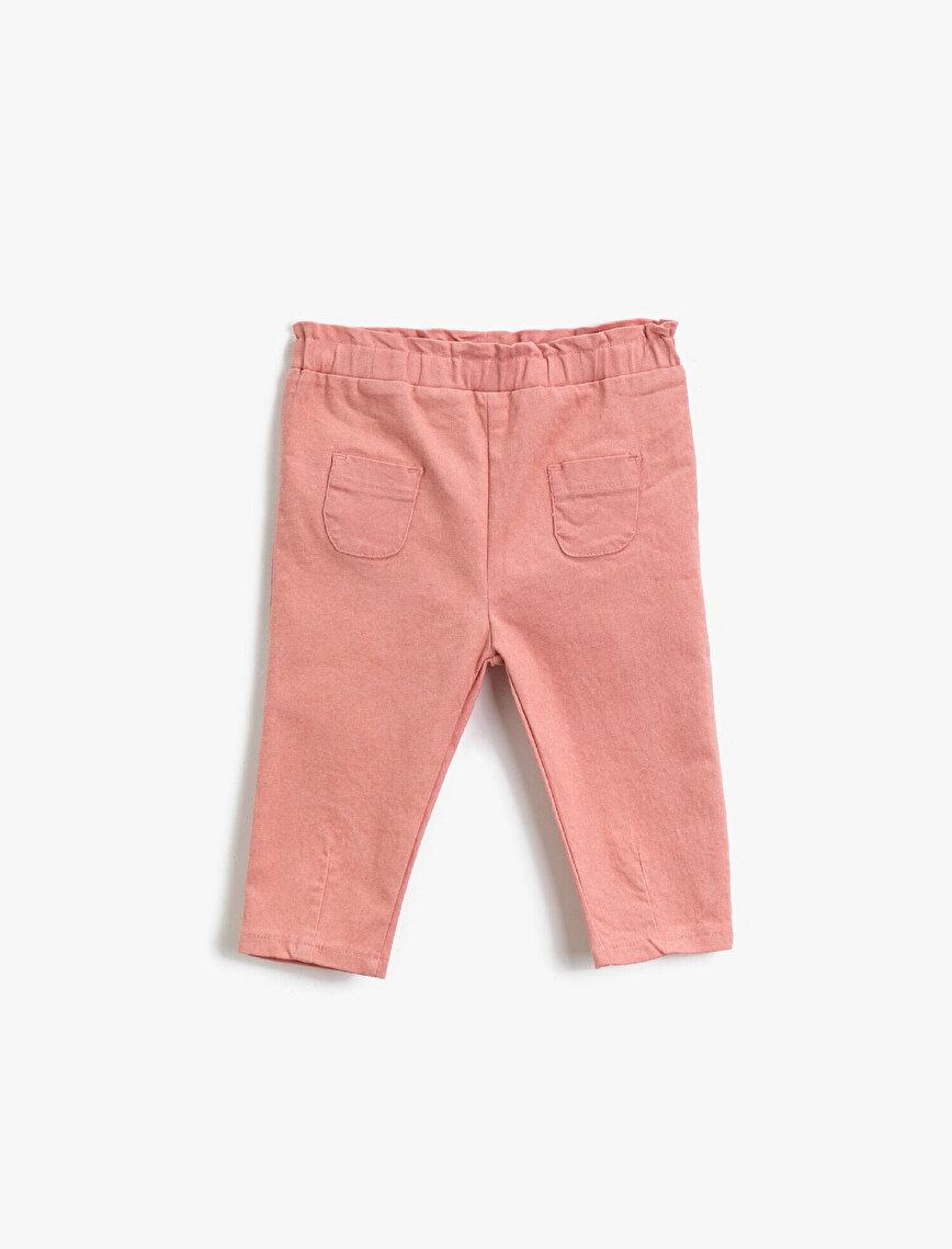 Cepli Beli Lastikli Pantolon