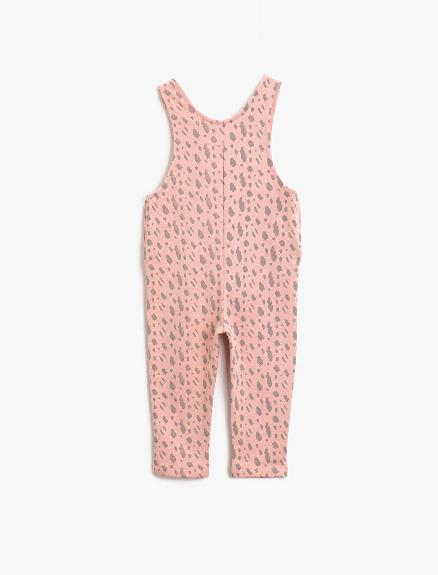 The Flintstones Licensed Çakıl Çakmaktaş Printed Cotton Patterned Romper
