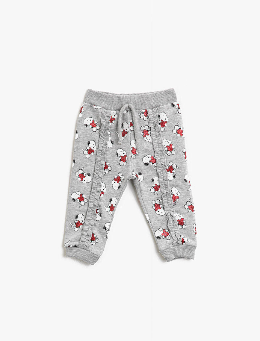 Snoopy Licensed Printed Drawstring Cotton Jogging Pants