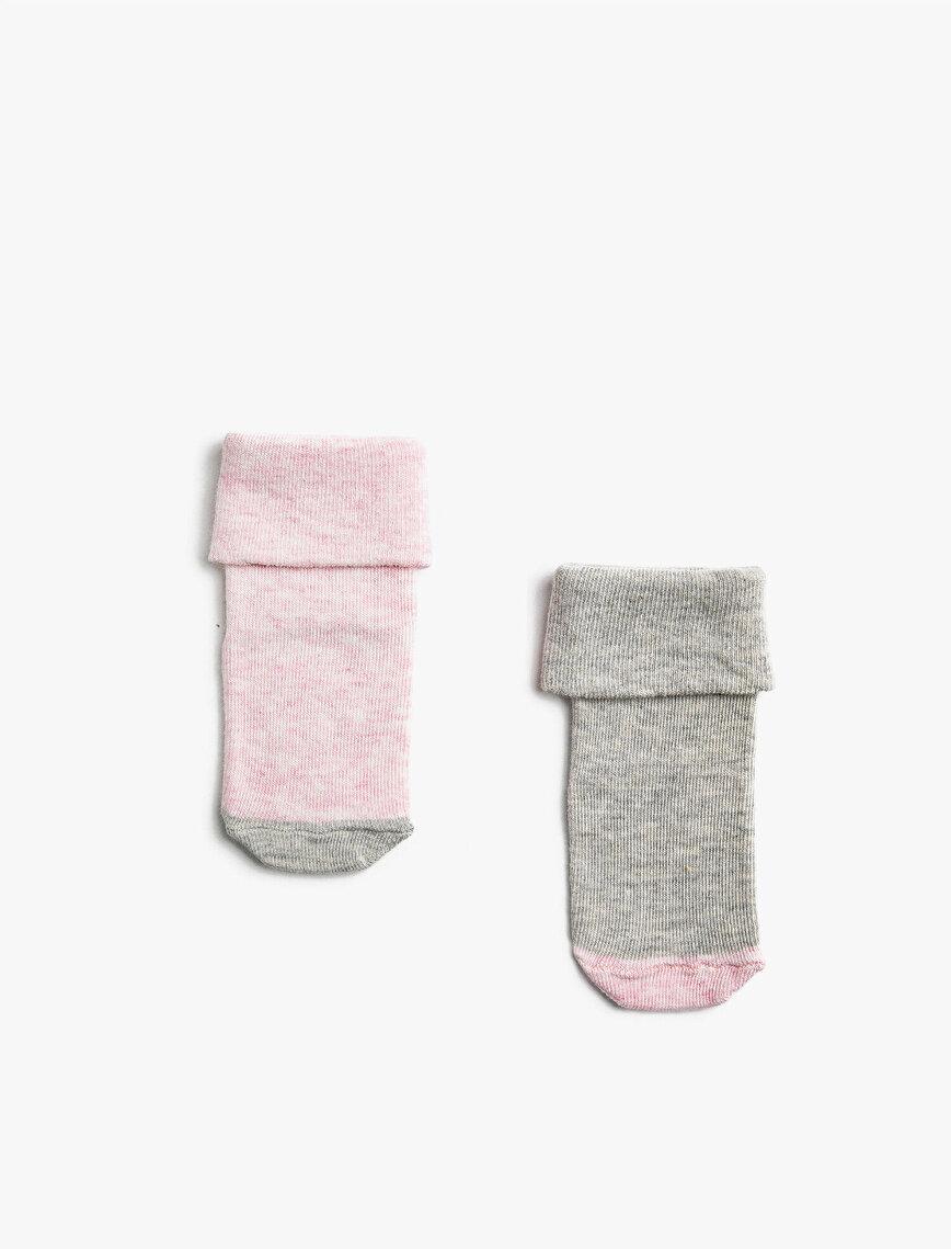 Kız Bebek 2'li Basic Çorap Seti