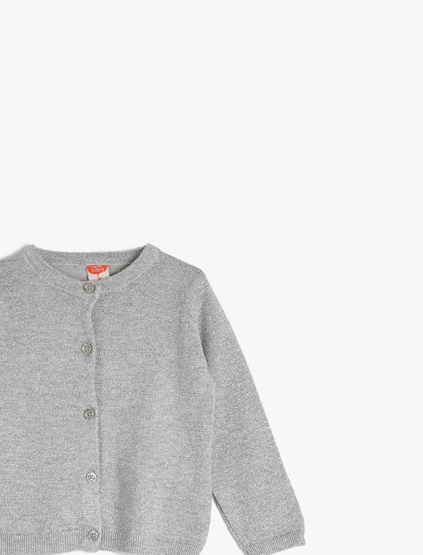 Long Sleeve Basic Button Detailed Cardigan