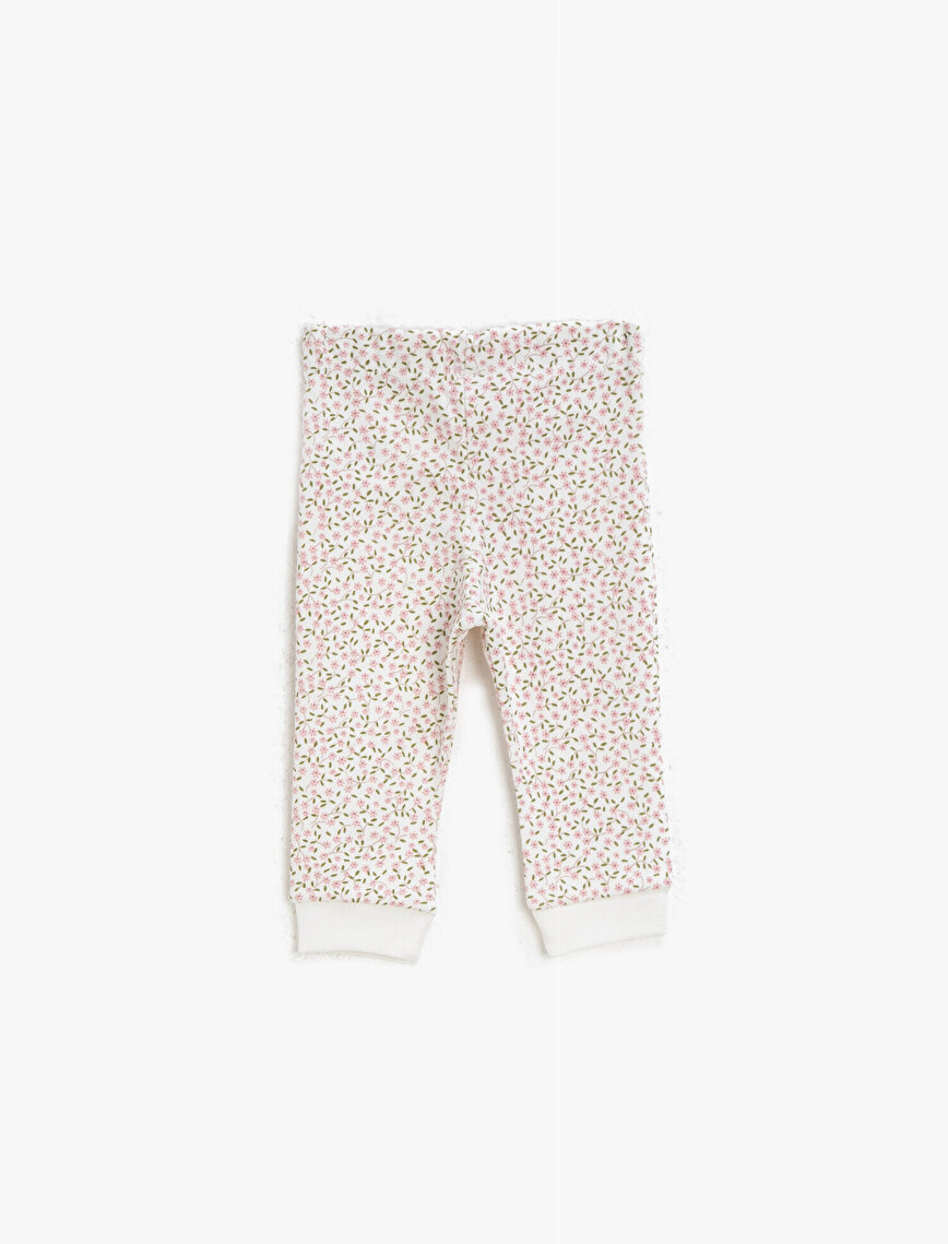 Floral Medium Rise Jogging Pants