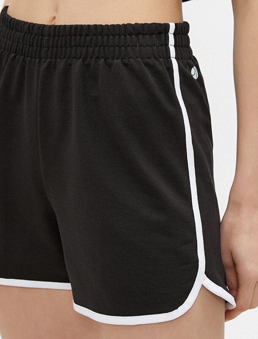 Stripe Detailed Shorts Drawstring Cotton