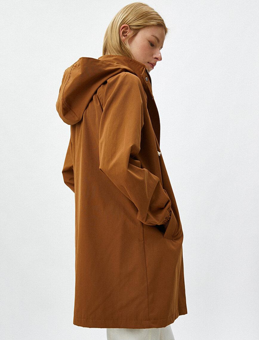 Oversize Trenchcoat Pocket Detailed Belted