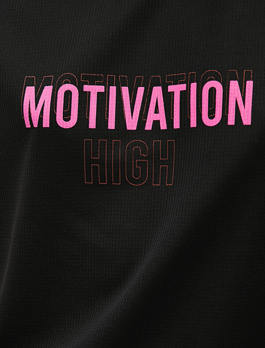 Short Sleeve T-Shirt Crew Neck Slogan Printed