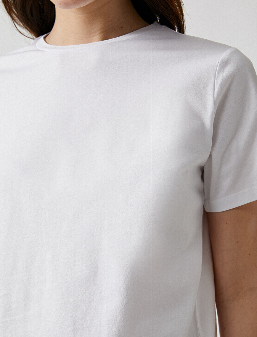 Crew Neck T-Shirt Short Sleeve Basic Cotton