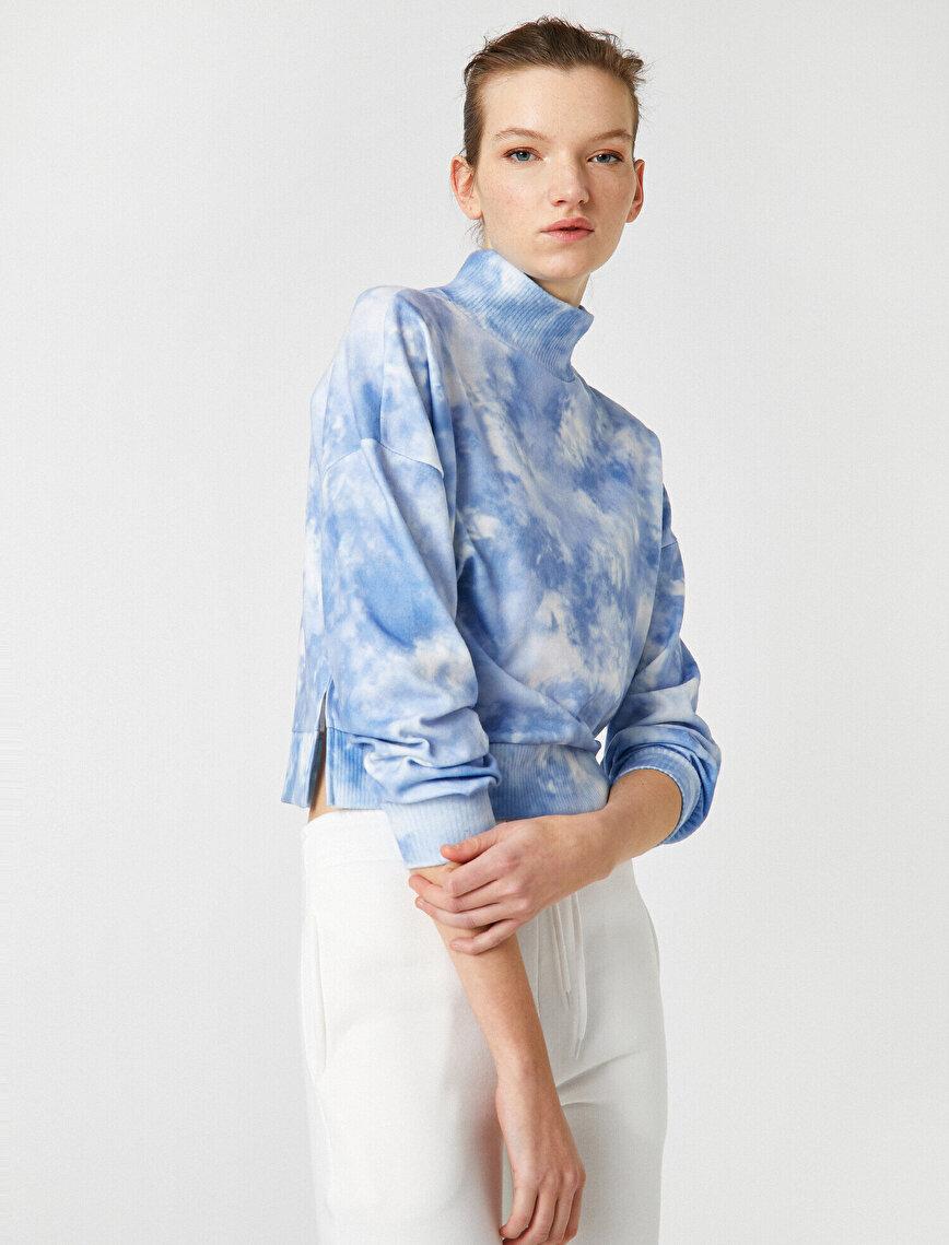 Dik Yaka Batik Sweatshirt