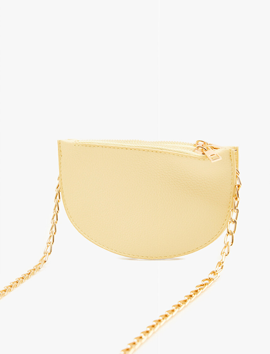 Faux Leather Bag Chain Strap