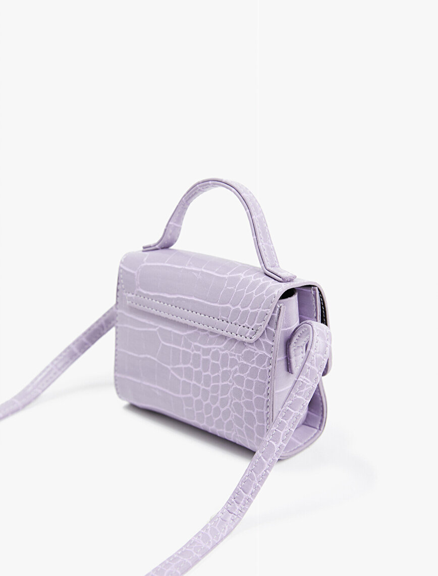 Crocodile Patterned Shoulder Bag