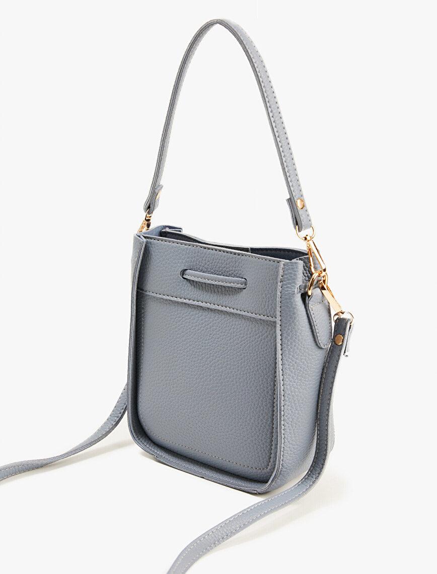 Leather Bag Drawstring Bucket